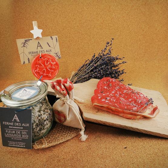Fleurs de sel de Guérande aux fleurs de lavande du Quercy