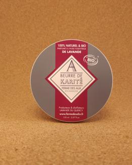 beurre de karité bio à l'huile essentielle de lavande bio
