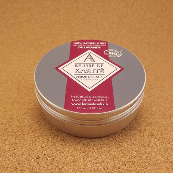 beurre de karité bio à l'huile essentielle de lavande bio Ferme des Alix Quercy